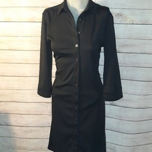 Express Button Down 3/4 Sleeve Dress Size size 7/8